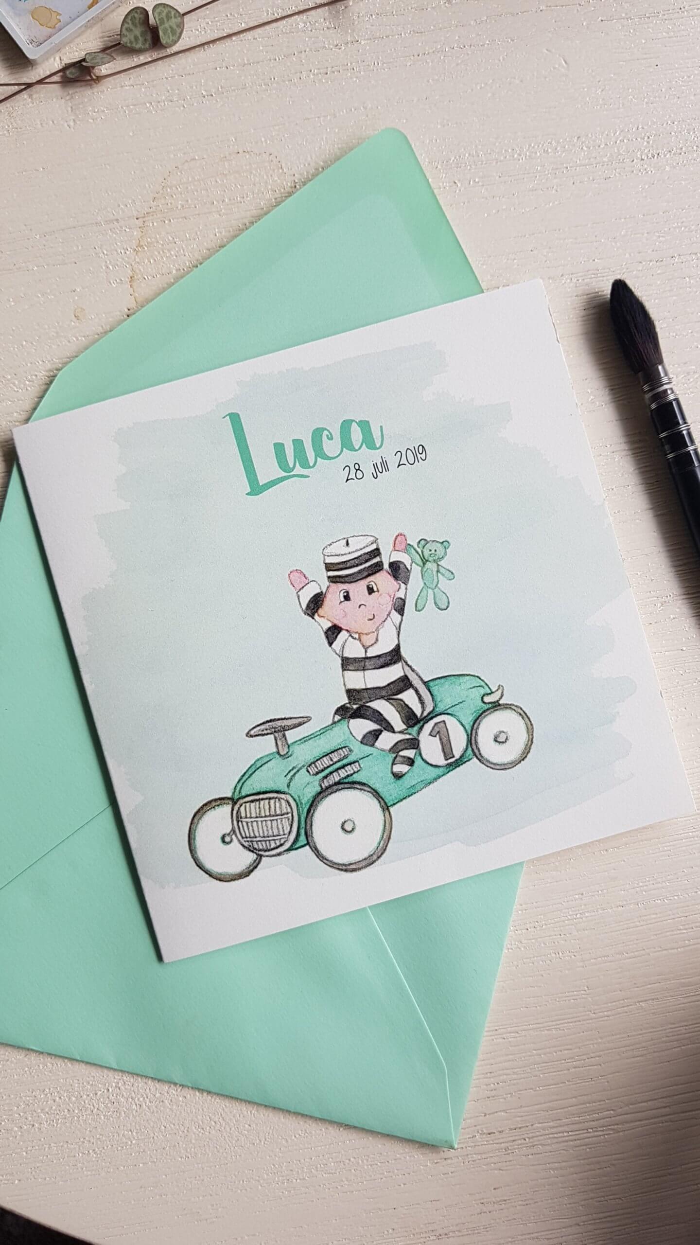 Geboortekaartje voor Luca